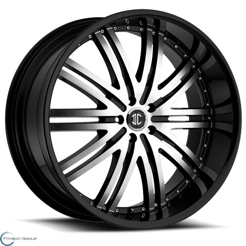 2 Crave Alloys No11 Glossy Black - Machined Face - Glossy Black Lip 22x9.5 5x135 ET15 CB87
