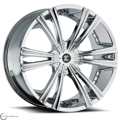 2 Crave Alloys No12 Chrome 22x9.5 6x127 ET30 CB78.3