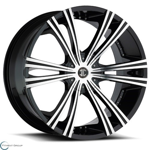 2 Crave Alloys No12 Glossy Black - Machined Face 22x9.5 5x115 ET15 CB78.3