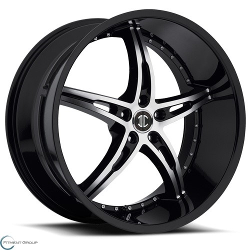 2 Crave Alloys No14 Satin Black - Machined Face - Satin Black Lip 20x8.5 5x108 ET38 CB74.1