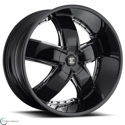 2 Crave Alloys No18 Glossy Black - Machined Stripe 22x9.5 5x120 ET30 CB78.3