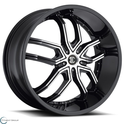 2 Crave Alloys No20 Glossy Black - Machined Face - Glossy Black Lip 20x8 5x108 ET40 CB72.56