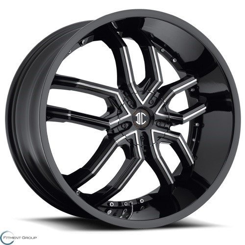 2 Crave Alloys No20 Glossy Black - Machined Face - Machined Stripe 20x8 5x100 ET40 CB72.56