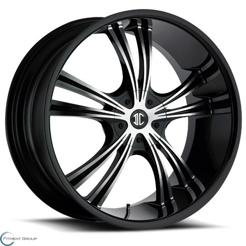 2 Crave Alloys No2 Glossy Black - Machined Face 18x7.5 5x114.3 ET40 CB72.56