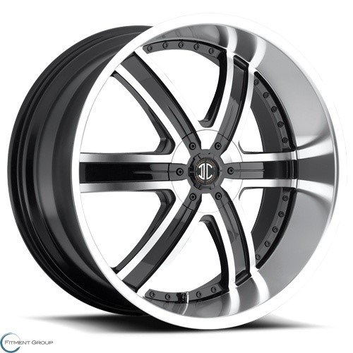 2 Crave Alloys No4 Glossy Black - Machined Face - Machined Lip 22x9.5 5x114.3 ET15 CB78.3