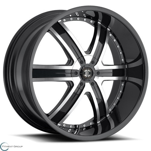 2 Crave Alloys No4 Glossy Black - Machined Face 20x9.5 5x127 ET15 CB78.3