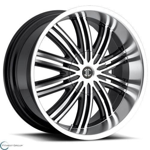 2 Crave Alloys No7 Glossy Black - Machined Face - Machined Stripe 20x8.5 5x114.3 ET35 CB78.3
