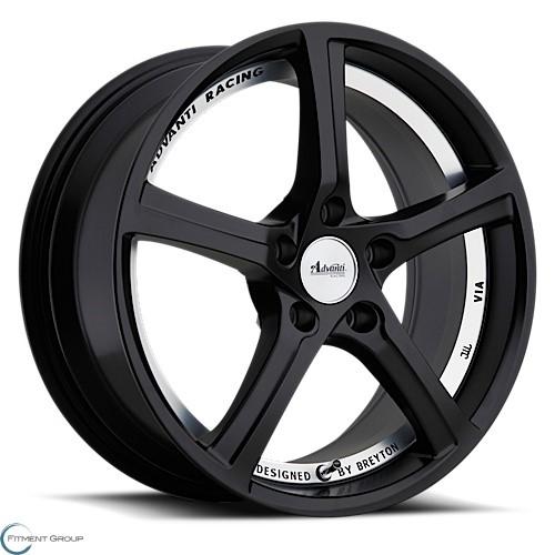 Advanti Wheels 15 - 15th Anniversary Matte Black with Undercut 17x7.5 5x114.3 ET35 CB73
