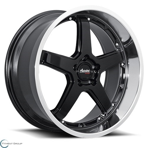 Advanti Wheels A2 - Traktion Gloss Black with Mirror Machined Lip 18x8 5x114.3 ET42 CB73