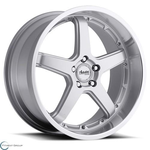 Advanti Wheels A2 - Traktion Silver with Mirror Machined Lip 18x8 5x114.3 ET25 CB73