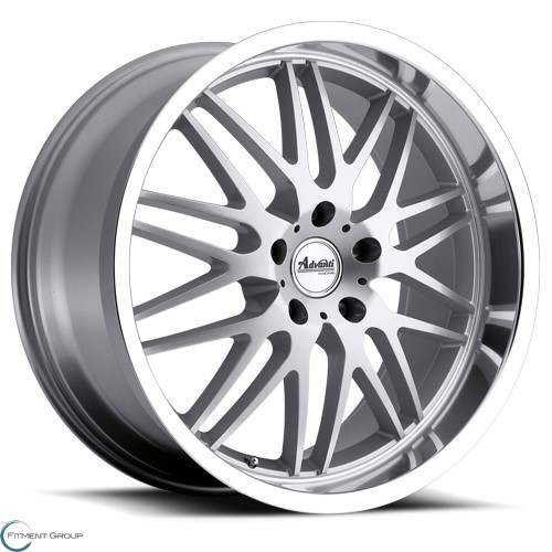 Advanti Wheels A4 - Kudos Silver with Mirror Machined Lip 18x8 5x114.3 ET40 CB73