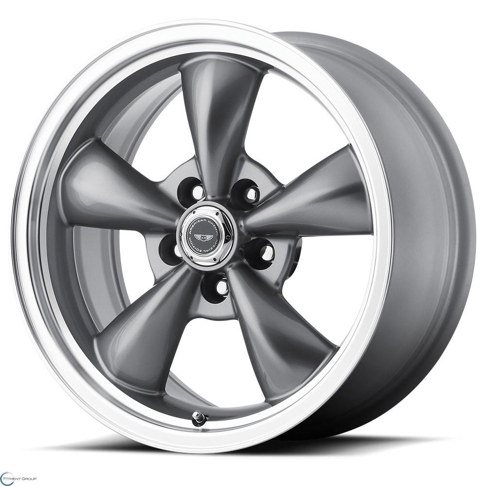 American Racing Custom Wheels AR105M Torq Thrust M Anthracite with Machined Lip 16x7 5x100 ET35 CB57.1