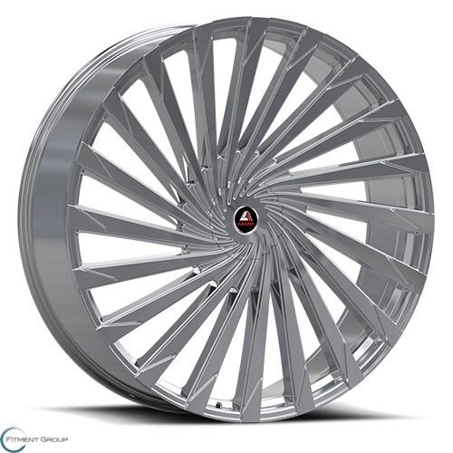 Azara AZA-501 Chrome 22x8.5 5x112 ET38 CB74.1