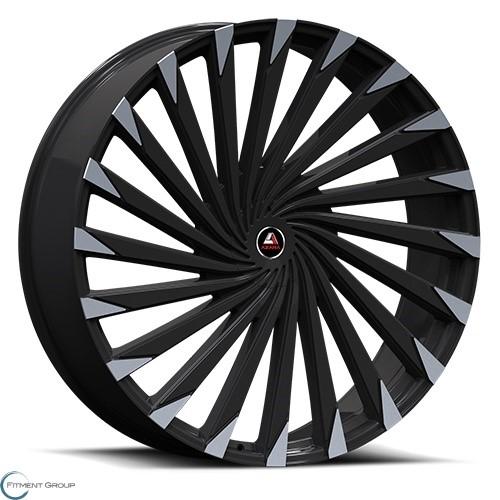 Azara AZA-501 Gloss Black Machined 20x8.5 5x108 ET35 CB74.1