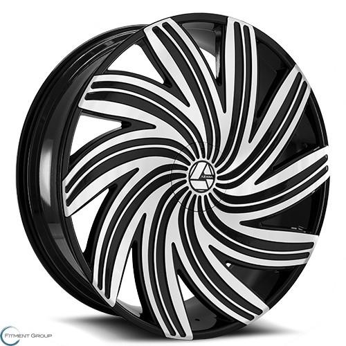 Azara AZA-502 Gloss Black Machined 20x8.5 5x108 ET35 CB74.1