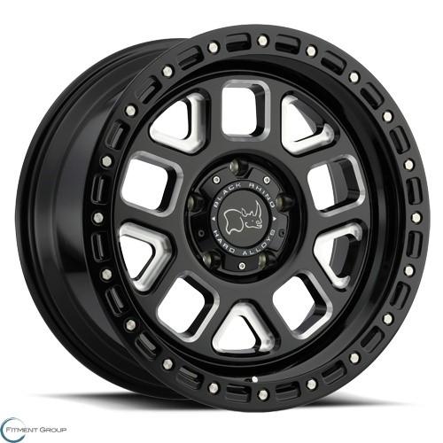 Black Rhino Alpine Gloss Black with Milled Spoke 17x9.5 5x127 ET18 CB71.6