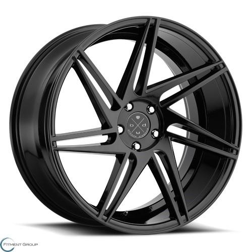 Blaque Diamond BD-1 2 Tone Black Gloss Black with Matte Face 22x9 5x112 ET32 CB66.6