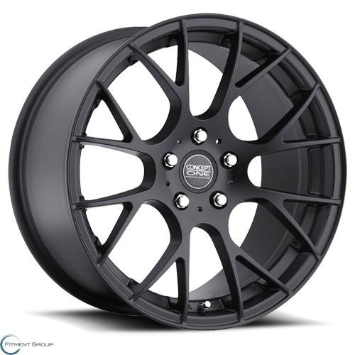 Concept One Wheels C - 8 Flat Black 18x8 5x100 ET35 CB73.1