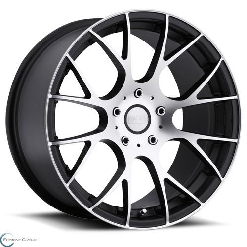 Concept One Wheels C - 8 Matte Black with Machined 18x8 5x100 ET35 CB73.1