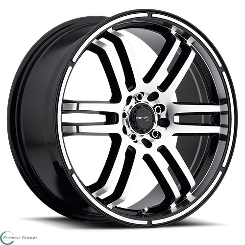 Drifz 207 FX Machined Face and Lip with Gloss Black Accents 15x6.5 4x100 ET42 CB73