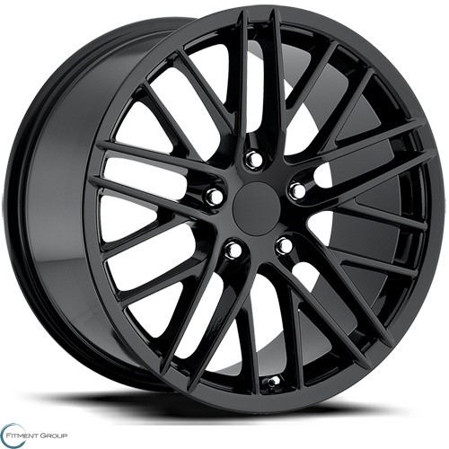 Factory Reproductions Style 15 Gloss Black 17x8.5 5x120.65 ET56 CB70.3