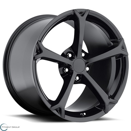 Factory Reproductions Style 19 Gloss Black 17x8.5 5x120.65 ET56 CB70.3