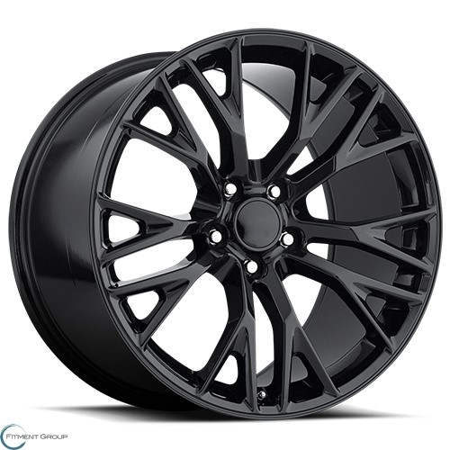Factory Reproductions Style 22 Gloss Black 17x8.5 5x120.65 ET56 CB70.3