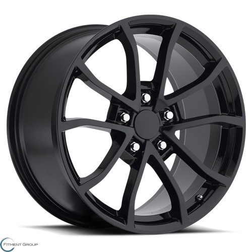Factory Reproductions Style 25 Gloss Black 17x8.5 5x120.65 ET56 CB70.3