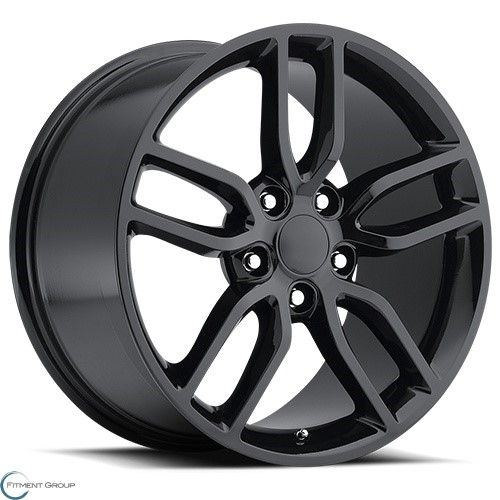 Factory Reproductions Style 26 Gloss Black 17x8.5 5x120.65 ET56 CB70.3