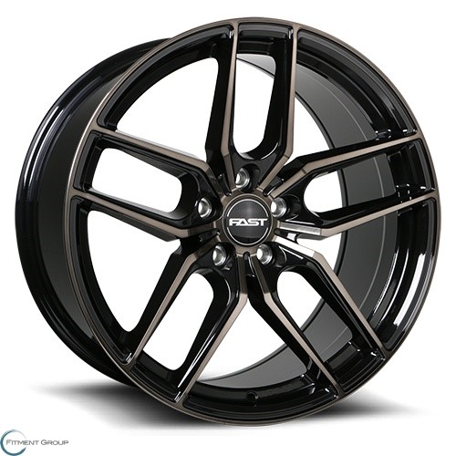 Fast Wheels Aristo Gloss Black with Machined Face and Smoked Clear 18x8.5 5x105 ET30 CB72.6