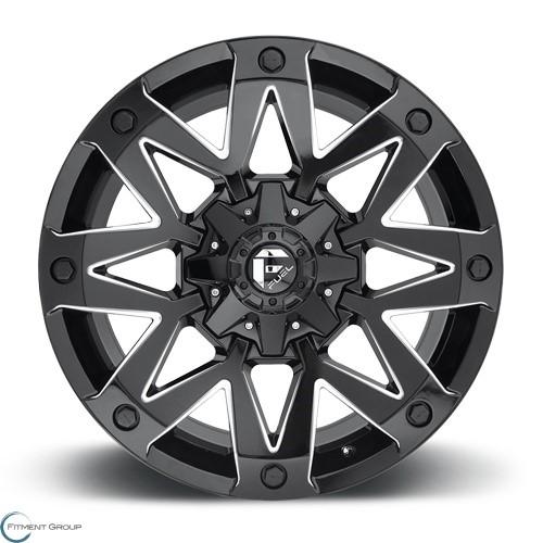 Fuel 1-Piece Wheels Ambush - D555 Gloss Black Milled 17x9 5x114.3 ET-12 CB78.1
