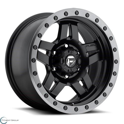 Fuel 1-Piece Wheels Anza - D557 BD - Matte BLK 15x7 4x115 ET13 CB79.4