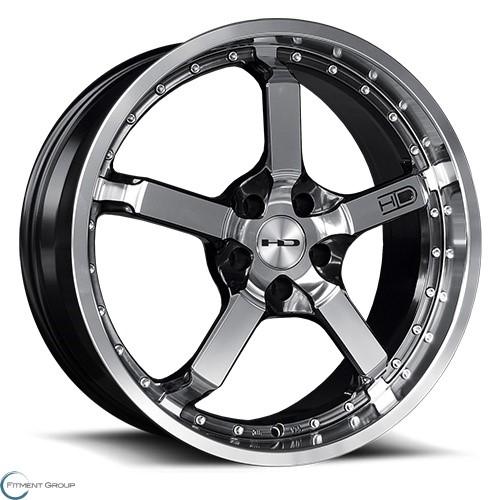HD Wheels CD20 Iridium Black Machined Face 20x8.5 5x112 ET35 CB73.1