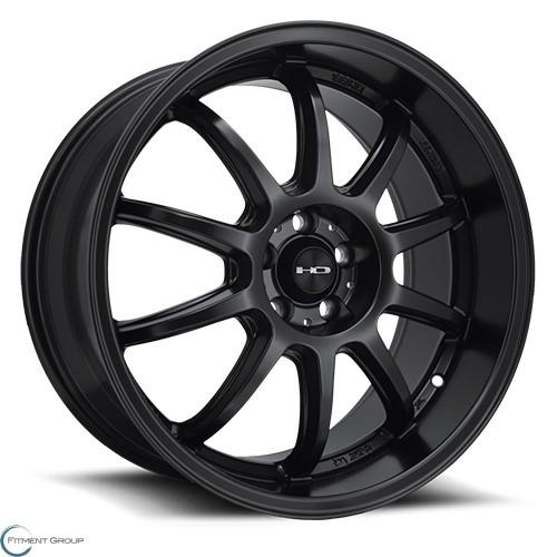 HD Wheels Clutch All Satin Black 15x6.5 4x100 ET40 CB73.1