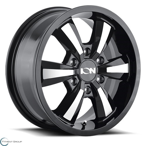 Ion Alloy 102 Gloss Black - Machined Face 18x8 5x130 ET50 CB84.1