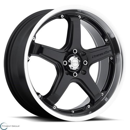 Katana CR5 Gloss Black - Machined Lip 17x7 4x100 ET40 CB73.1
