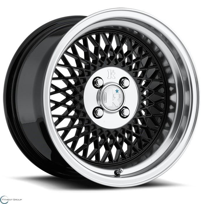 Klutch SL1 Black with Chrome Lip 15x8.5 4x100 ET17 CB73.1