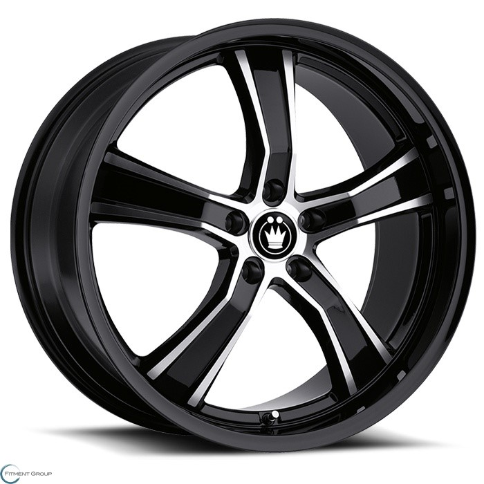 Konig Wheels Airstrike Gloss Black with Machined Face 17x8 5x100 ET35 CB73