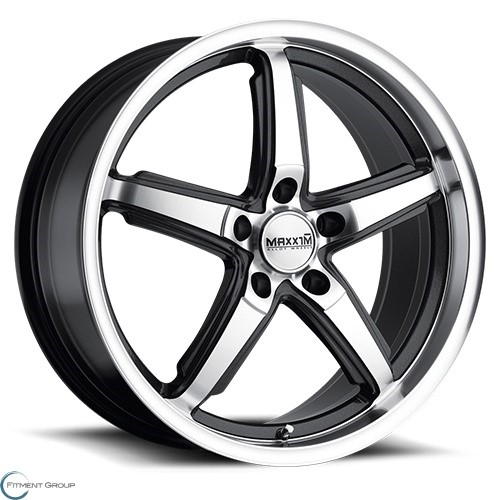 Maxxim Allegro Machined Face and Lip with Graphite Accents 16x7 5x100 ET40 CB73